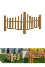 2 6 Ft H X 4 6 Ft W Brown Composite Vinyl Country Corner Picket Fence Panel For Sale Online