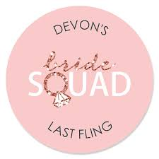 Bride Squad Bachelorette Party Bridal Shower Party Sticker Labels 24 Ct Bigdotofhappiness Com
