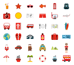 travel icon free vectors stock