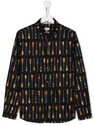PAUL SMITH JUNIOR Shirt with oars print - P.SMITH - Rubinokids