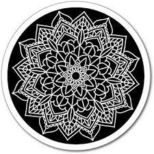 Amazon Com Mandala Pattern Black White Circle Pretty Floral Henna Car Sticker Decal Automotive