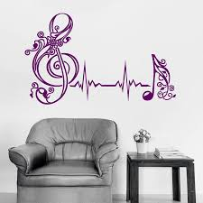 Heart Beat Wall Decal Musical Notes Pulse Music Art Home Interior Vinyl Wall Stickers Bedroom Music Classroom Modern Mural Kids Room Stickers Kids Room Wall Decals From Joystickers 12 57 Dhgate Com