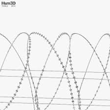 Barbed Wire Fence 3d Model Architecture On Hum3d