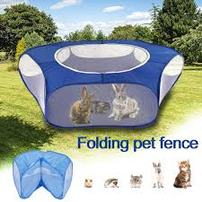 Portable Pet Playpen Outdoor Indoor Game Folding Fence For Small Animals Cage Tent For Rabbits Hamsters Chihuahuas Shopee Philippines