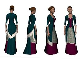 mod the sims victorian bustle dress