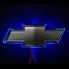 led for chevrolet logo blue image led