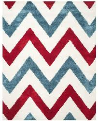 Safavieh Shag Kids Ivory And Red 8 6 X 12 Area Rug Reviews Rugs Macy S