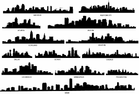 City Skyline Decal Skyline Silhouette Vinyl Wall Decals Etsy Building Silhouette City Silhouette City Skyline Silhouette