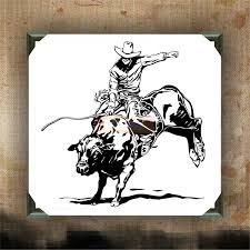 Bull Rider Judd Paul Decorated Canvas Wall Hanging Wall Decor Inspiring Quotes On Canvas 12 X 12 Bull Riding Bull Riders Pbr Bull Riding
