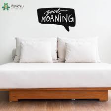 yoyoyu wall decal modern design quotes good morning vinyl wall