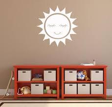 Smiling Sun Vinyl Decal Sun Vinyl Wall Art Sun Sticker Sun Etsy