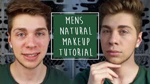 men s natural makeup tutorial men s