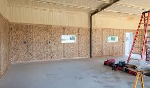 installing corrugated metal garage