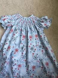 smock light blue snowflake bi dress