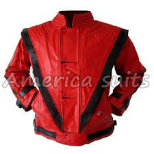michael jackson thriller red with black