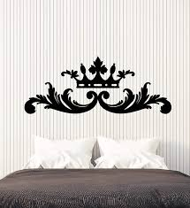 Amazon Com Vinyl Wall Decal Headrest Bed King Queen Crown Bedroom Decor Stickers Large Decor 2894ig Black Arts Crafts Sewing