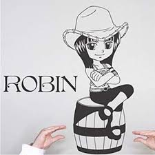 Amazon Com Tioua Wall Decal Sticker Robin One Piece Wall Sticker Car Wall Stickers Japanese Decal Vinyl Decal Sticker Home Decoration Home Kitchen