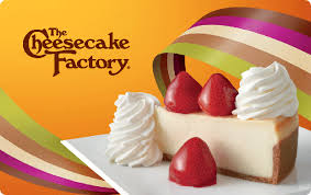 cheesecake factory gift card