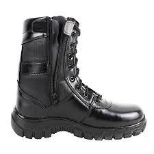 zipper commando leather boots