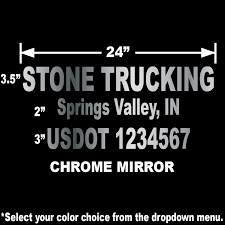 24 X12 Usdot Compliant Number Vinyl Sticker From 16 Ships Free