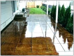 painting concrete patio floors