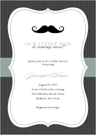 Little Man Foil Baby Shower Invitations Cumpleanos Papa Primer