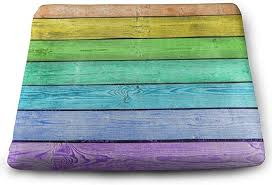 seat cushion wooden rainbow color chair
