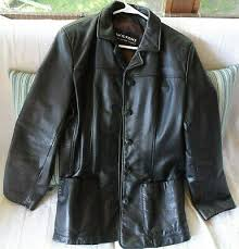 womens size l black leather jacket
