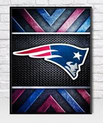 New England Patriots Metal Style Poster Fan Art Poster
