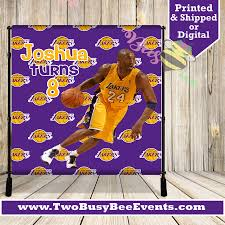 Lakers Chip Bags Lakers Party Kobe Backdrop Lebron James Etsy