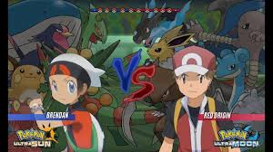 Pokemon Battle USUM: Brendan Vs Red Pokemon Origins (Pokemon Wifi ...