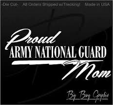 Army National Guard Decal Sticker Proud Mom Car I Love My Son Daughter Veteran Ebay