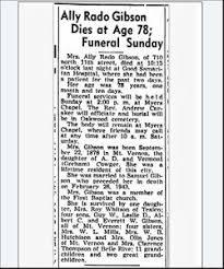 Allie Rado Cowger Gibson (1872-1950) - Find A Grave Memorial