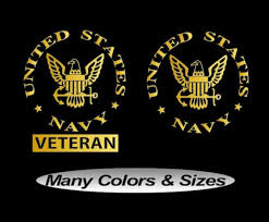 Navy Veteran Vinyl Car Truck Window Decal Bumper Sticker Us Seller