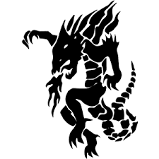 Fire Breathing Dragon Decal 032