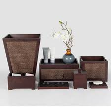 luxury brown wooden guest room service