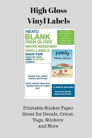 Vinyl Labels Printable Sticker Paper Printable Sticker Paper Vinyl Labels Vinyl Sticker Paper