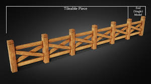 Wood Fence 3d Model Cgtrader