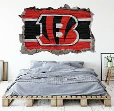 Cincinnati Bengals Wall Art Decal 3d Smashed Football Kids Wall Decor Wl173 Ebay