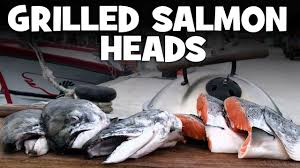 Grilled Salmon Heads recipe - YouTube