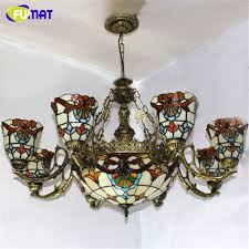 fumat stained glass chandelier european