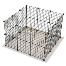 Durable Small Animal Cage Portable Metal Wire Yard Fence Pet Playpen Animal Fence Cage Kennel Crate Lazada Ph