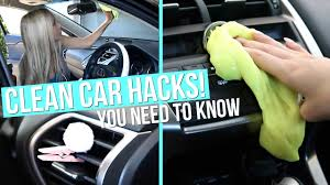 clean car hacks how to clean