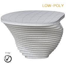coffee table round circular white