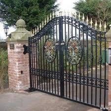Villa Luxury Used Wrought Iron Galvanized Steel Pipe Main Door Gates Buy Wrought Iron Gates Gate Gate Designs Product On Alibaba Com
