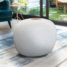 Azk Knit Cord Ottoman Wihte Pouf Pouf Foot Stool Poufs For Living Room Poof For Bedroom