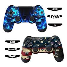 Skins For Ps4 Controller Decals For Playstation 4 Games Stickers Cover For Ps4 Slim Sony Play Station Four Controllers Pro Ps4 Accessories Ps4 Remote Wireless Dualshock 4 Flag Daemon