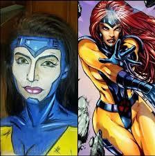 makeup artist creates amazing superhero