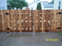 390867 Tb Shadow Box Dog Ear Double Gate Great Lakes Fence