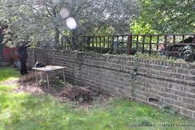 when garden walls lean collapse and go